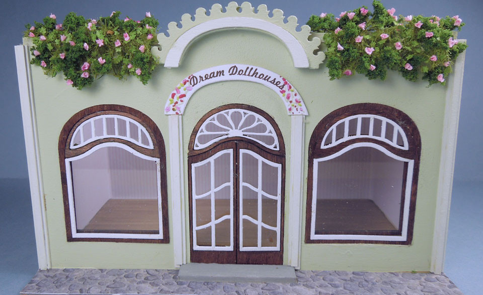 Miniature Dolls House Accessories Wooden Garden Arch Kit  1:12th scale size