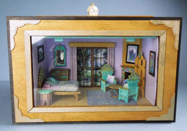Q605 Framed Garden View Room Box - Click Image to Close